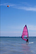 562058Parasailing And Windsurfing A4 Photo Print