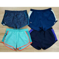 Under Armour Womens Shorts Size Medium Running Lot of 4 Blue Purple