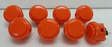 Japan Sanwa Push Buttons OBSF-30-O Orange Color x 8 pcs Video Game Arcade parts