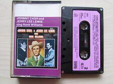 JOHNNY CASH & JERRY LEE LEWIS SING HANK WILLIAMS CASSETTE 1971 BELLAPHON TESTED.