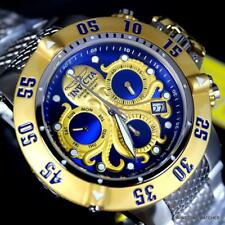 Invicta Subaqua Noma III Octopus Gold Plated Swiss Mvt Steel Blue 50mm Watch New