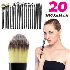 20pcs Makeup BRUSHES Kit Set Powder Foundation Eyeshadow Eyeliner Lip Brush Lw