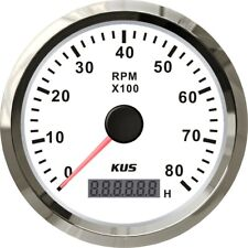 KUS Marine Tachometer Gauge LCD Hourmeter Boat RPM Tacho Meter 12v/24v 8000rpm