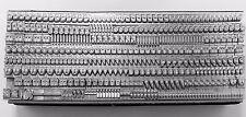 12 point GILL SANS MEDIUM Lowercase Letterpress Metal Printing Type