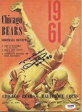 MIKE DITKA AUTOGRAPHED SIGNED 1961 CHICAGO BEARS ROOKIE PSA/DNA PROGRAM