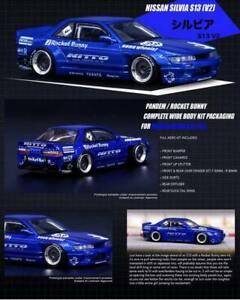 INNO64 1:64 Pandem Rocket Bunny Nissan Silvia S13 V2 Blue
