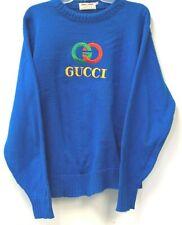 Vintage Gucci Logo Sweater 80s Crew Neck XL