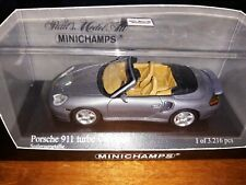Minichamps 1/43 Porsche 911 Turbo Cabriolet 2003 grey metallic
