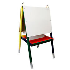 Children's Paint & Drawing Kids Art Easel with Chalkboard & Dry Erase Board