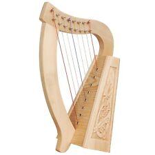 O'Carolan Harp, 8 Strings Lacewood Celtic Dragon (extra string set & Tuning Key)