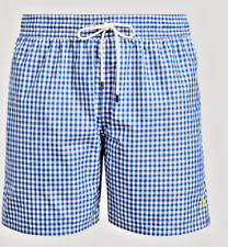 5195dd2d21 Polo RL Ralph Lauren Men's Big & Tall Gingham Traveler Swim Trunks ...