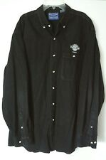 Hard Rock Cafe Tokyo long sleeved button up black denim shirt sz L