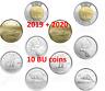 Pre-Sale! 2020 + 2019 CANADA circulation sets (10 coins) BU UNC FIRST STRIKES