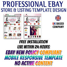 eBay Shop Store, eBay Listing Mobile Responsive Templates - Sexy Lingerie Dress