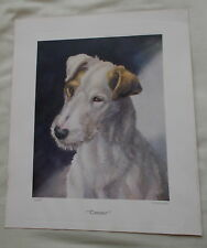 WIRE HAIRED FOX TERRIER DOG PRINT CAESAR BY NINA SCOTT LANGLEY