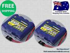 2 Pack Turnigy LSD 4.8V 2300mAh Ni-MH Battery Receiver pack RC Car Plane Radio