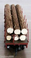 "Ho Very Detailed- 6 Pc- 3/8"" R x 4-3/8"" L Real Wood Logs Only~ For 34' Flat Car"