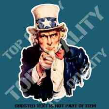 UNCLE SAM HOT ROD DECAL STICKER VINTAGE AMERICANA HOT ROD RAT ROD STICKERS