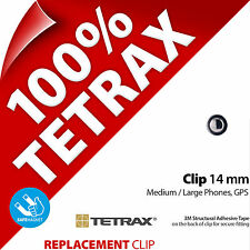 1 x Tetrax Replacement Adhesive Clip 14 mm Steel Grey (For use with Holder)