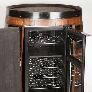 Wine refrigerator whiskey barrel furniture whisky