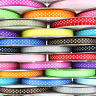 "25m Reel Polka Dot Grosgrain Ribbon - 10mm (3/8"") width - Various Colours"