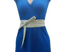 Obi Leather Belt, Ivory Wrap Wide Belt, Fashion Belts, Sash Belts