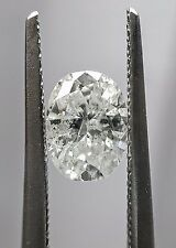 Oval Cut Natural 100% Real Diamond 0.86 Carat F-G Color SI3 Amazing Sparkling!