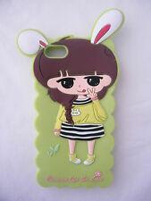 Iphone 4 Cover Case Silicone Gel Cute girl bunny ears Hot sale Fast post