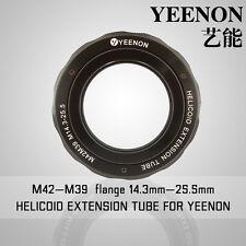 【YEENON】M42 to M39 x 14.3mm Focusing Helicoid Macro Extension Tube