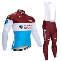 Winter Men Cycling Jersey Set bike Long Sleeve Sportswear Comfortable U01