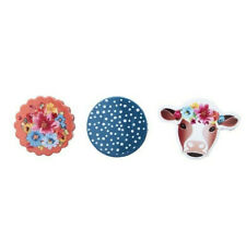 New listing The Pioneer Woman 3 Pieces Magnetic Bag Clips Bright Colors Cow