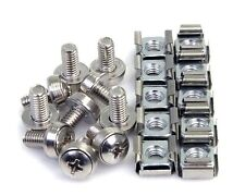 StarTech.com M6 Mounting Screws and Cage Nuts for Server Rack Cabinet (Pack of