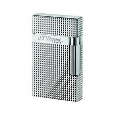ST DUPONT LINGE LINE 2 SILVER PLATE DIAMOND HEAD DESIGN LIGHTER #ST016184 16184