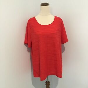 Millers Short Sleeve Top Plus Size 18 Ripple Design Red Round Neck T-Shirt Style
