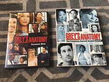 GREY'S ANATOMY SEASONS 1 & 2, DVD, 8-DISC SET, GREAT SHAPE