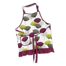 SANDERSON DANDELION CLOCKS APRON Cotton Retro Style Damson Brand New in Packet
