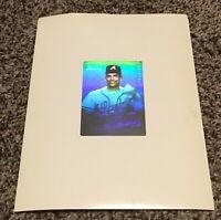 David Justice 1991 Silver Star Hologram Card Uncut Sheet Test Proof Promo Rare!