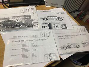 AT Ferrari F 355 Decals verschiedene Ausführung in 1:18 sehr selten Top!!