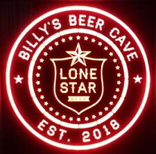 custom personalized Lone Star Beer led 12 x 12 Multi color LED Sign