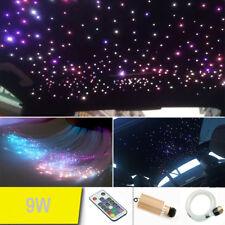 9W Car LED Light Fiber Optic Star Ceiling Kit RGB Remote 0.75mm*2m 150 Strands