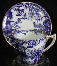Royal Crown Derby England Demitasse Cup Saucer-Blue Mikado Willow