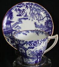 Royal Crown Derby England Demitasse Cup Saucer-Blue Mikado Willow