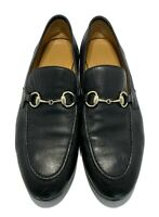 GUCCI BLACK LEATHER 'JORDAAN' LOAFERS, 37.5, $1080