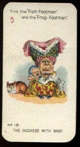 Tobacco Card, Carreras, ALICE IN WONDERLAND, 1930, Std, Duchess with Baby, #15