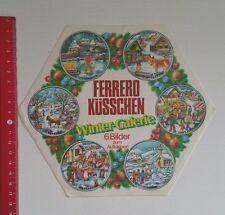 Aufkleber/Sticker A4: Ferrero Küsschen Winter Galerie 1979 (14031677)
