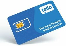 Tello Mobile - Bring Your Own Phone - 3 in 1 Gsm Sim Card Kit Us Free Shiping