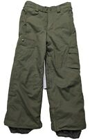 BURTON DRYRIDE SHAUN WHITE SNOWBOARD SNOWPANTS ARMY YOUTH BOYS MEDIUM 10/12