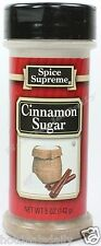 Spice Supreme® CINNAMON SUGAR new & fresh USA MADE seasoning spices cooking jars