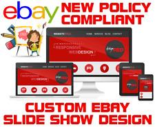 Custom eBay Store Design / Mobile Responsive / eBay Auction Listing Template USA