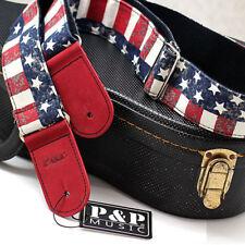 Printing Acoustic Electric Guitar Bass Adjustable Belt Strap Flag Pattern